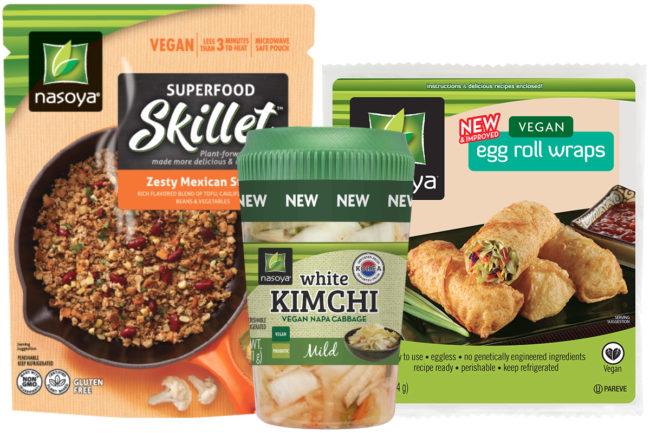 Nasoya Superfood Skillets, Kimchi and Wraps