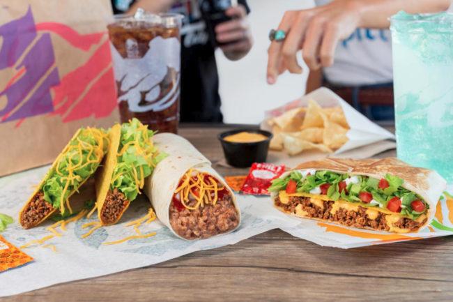 Taco Bell beef menu items