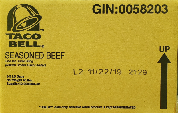 Taco Bell seasoned beef recall