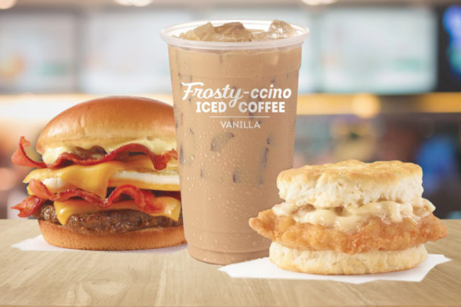 Wendy's breakfast menu offerings