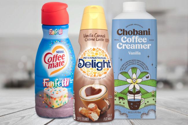 New coffee creamers from Nestle, Danone and Chobani