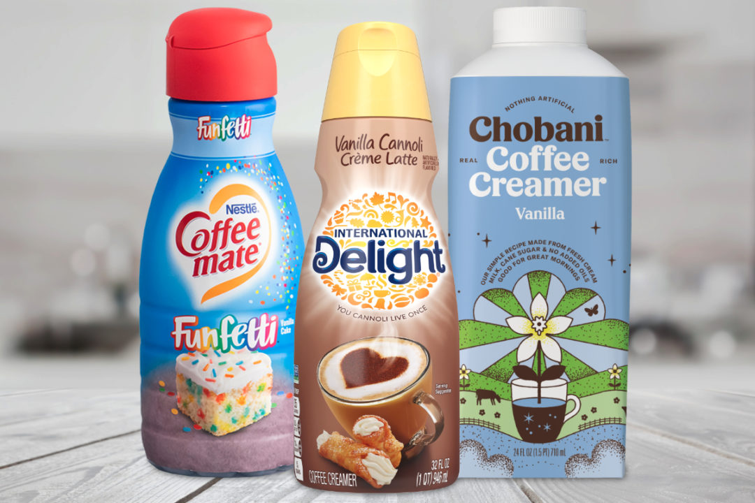 New coffee creamers from Nestle, Danone and Chobani