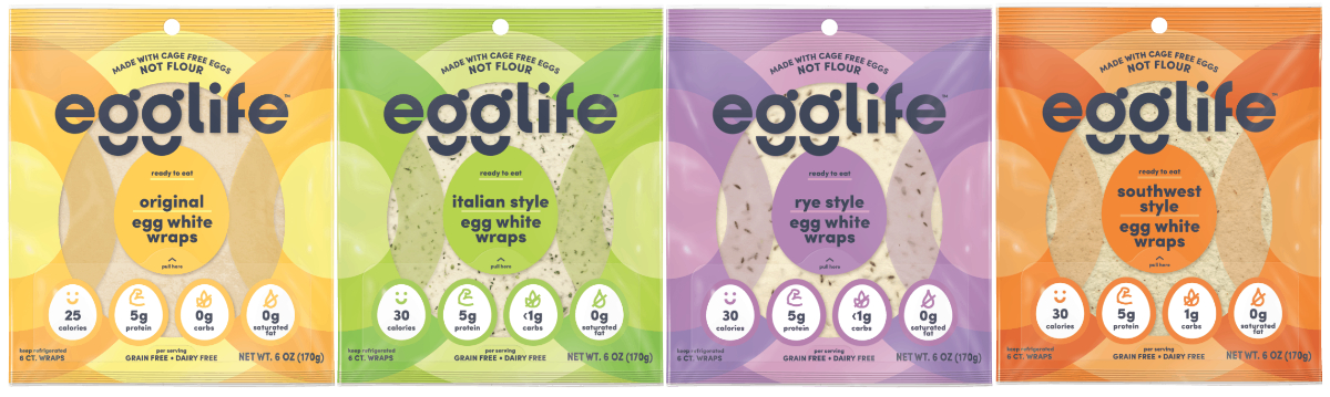 EggLife egg white wraps varieties