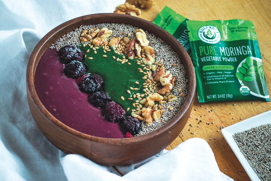 Kuli Kuli moringa powder acai bowl