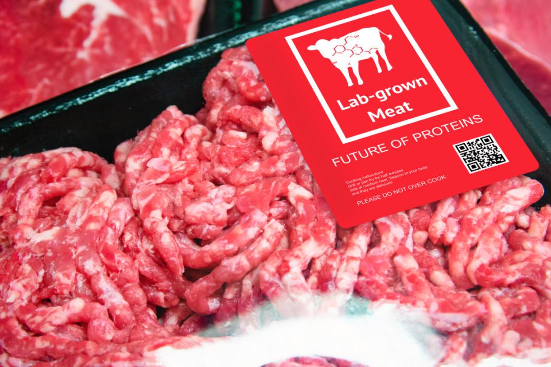 Lab grown meat package