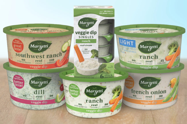 New Marzetti reformulated Veggie Dips