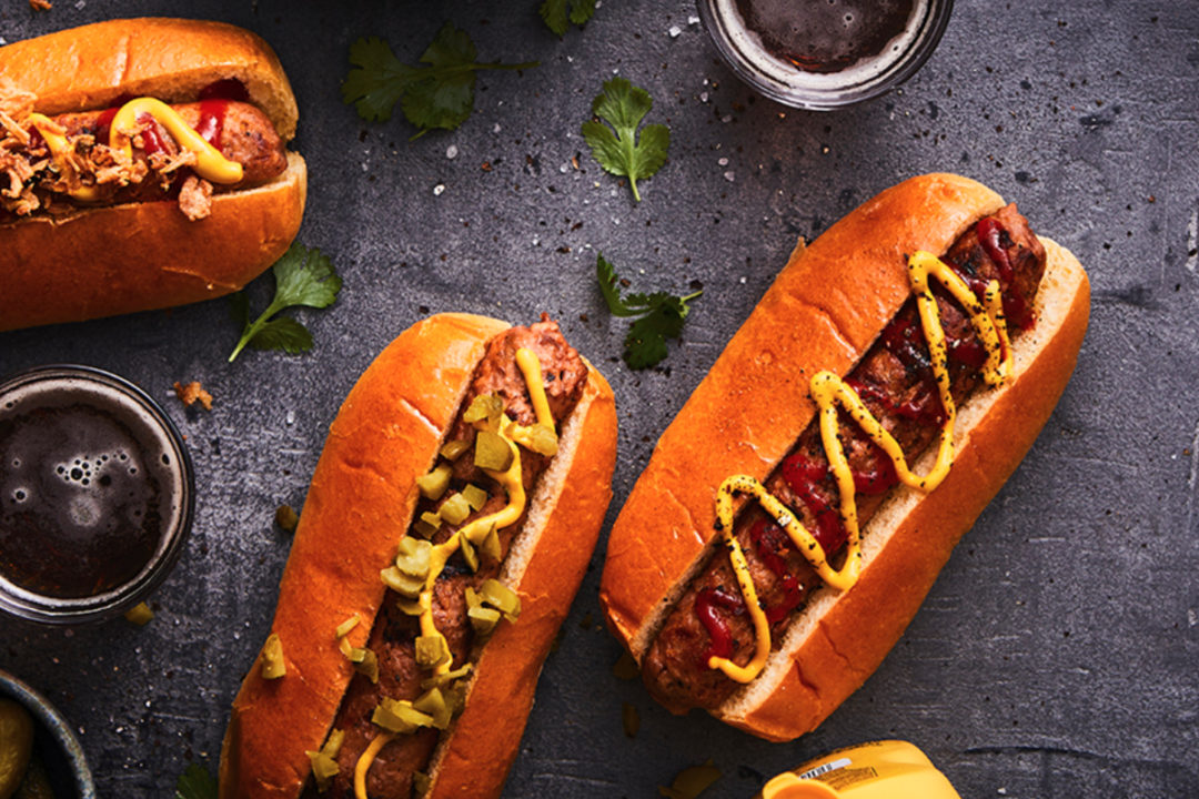 Plant-based hot dog meat alternatives