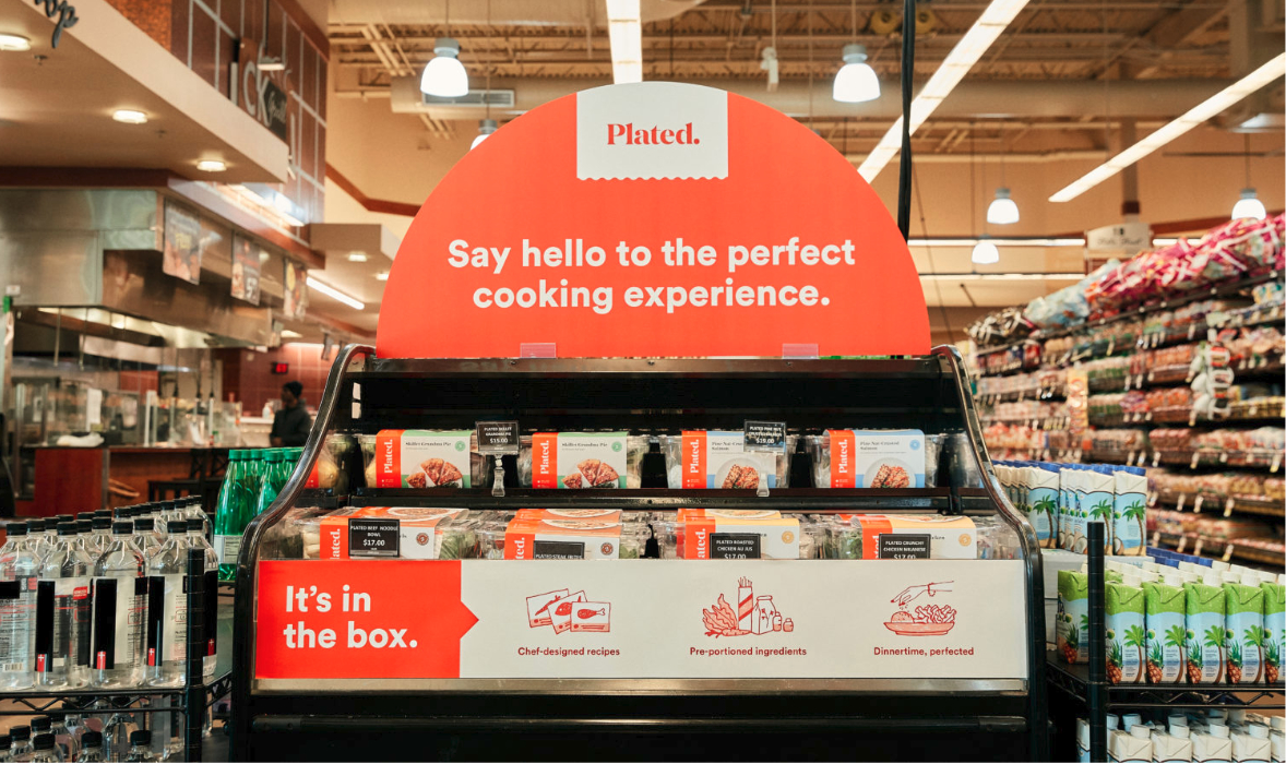 Plated meal kits in Albertsons stores