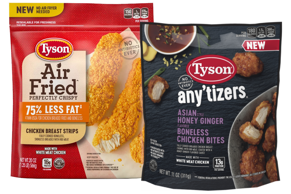 Tyson Foods air fried chicken and Any'tizers