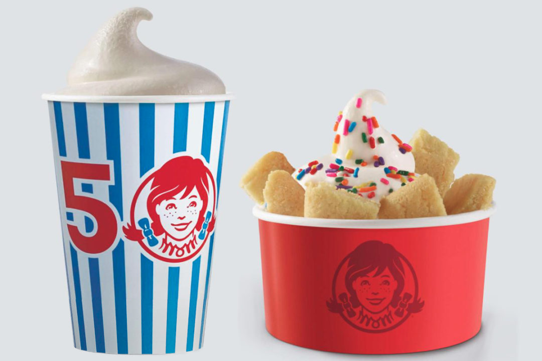 Wendy's Birthday Cake Frosty and Birthday Cake Frosty Cookie Sundae