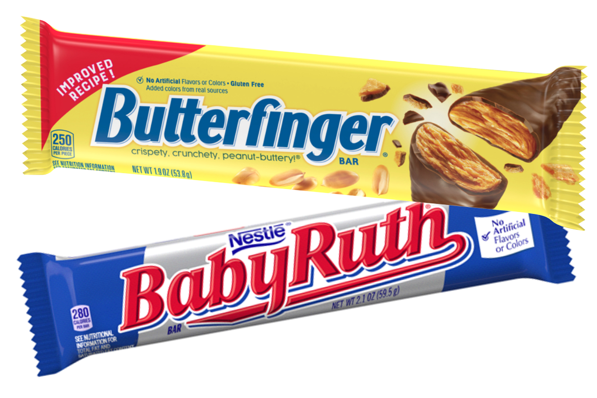 Butterfinger and Baby Ruth candy bars