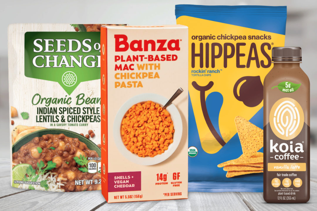 New products featuring chickpeas from Mars, Banza, Hippeas and Koia