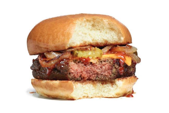 Impossible Burger bite