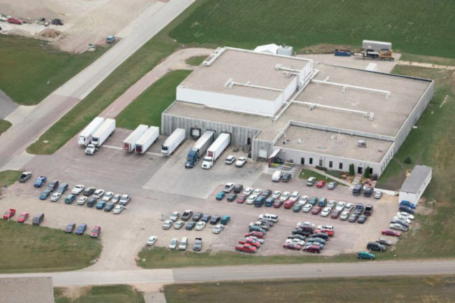 J&B Group beef processing facility in Pipestone, Minnesota