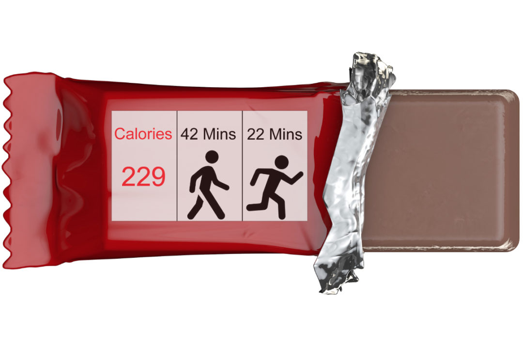 PACE labeling on chocolate bar