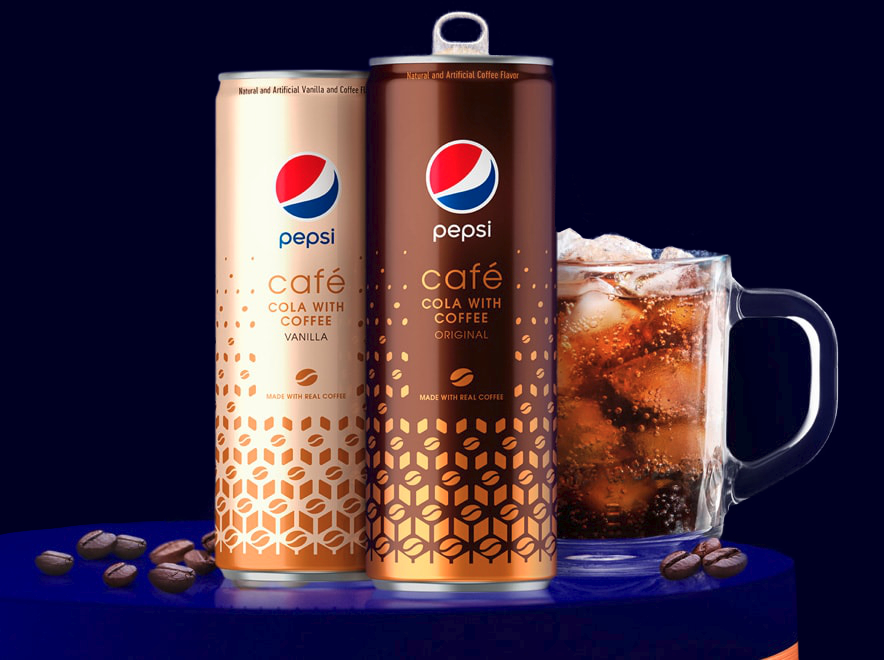 Pepsi Cafe cans and cup