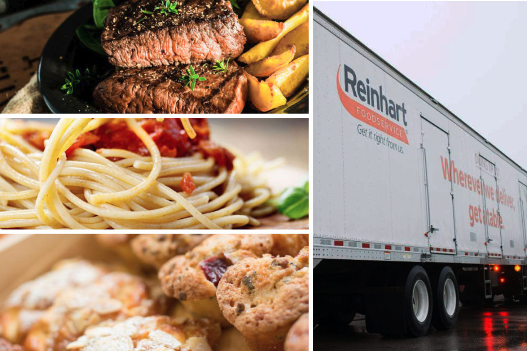 Reinhart Foodservice truck and food offerings