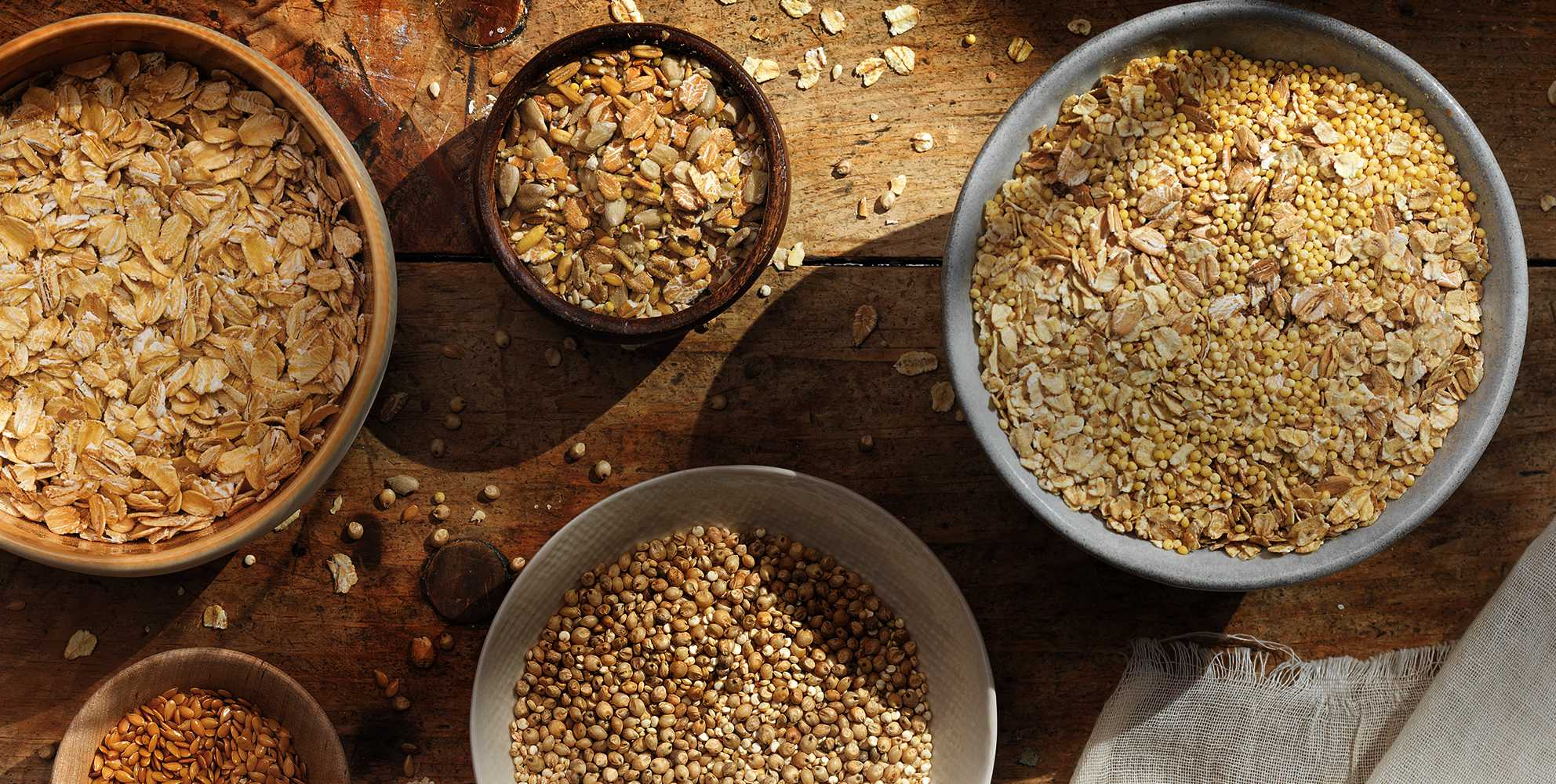 Ancient grains baking ingredients
