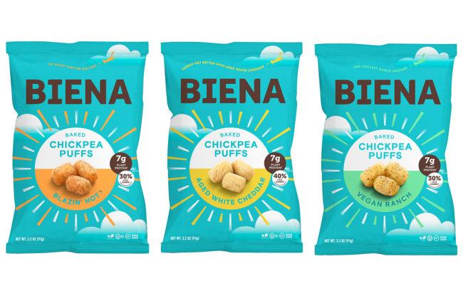 Biena Snacks chickpea puffs