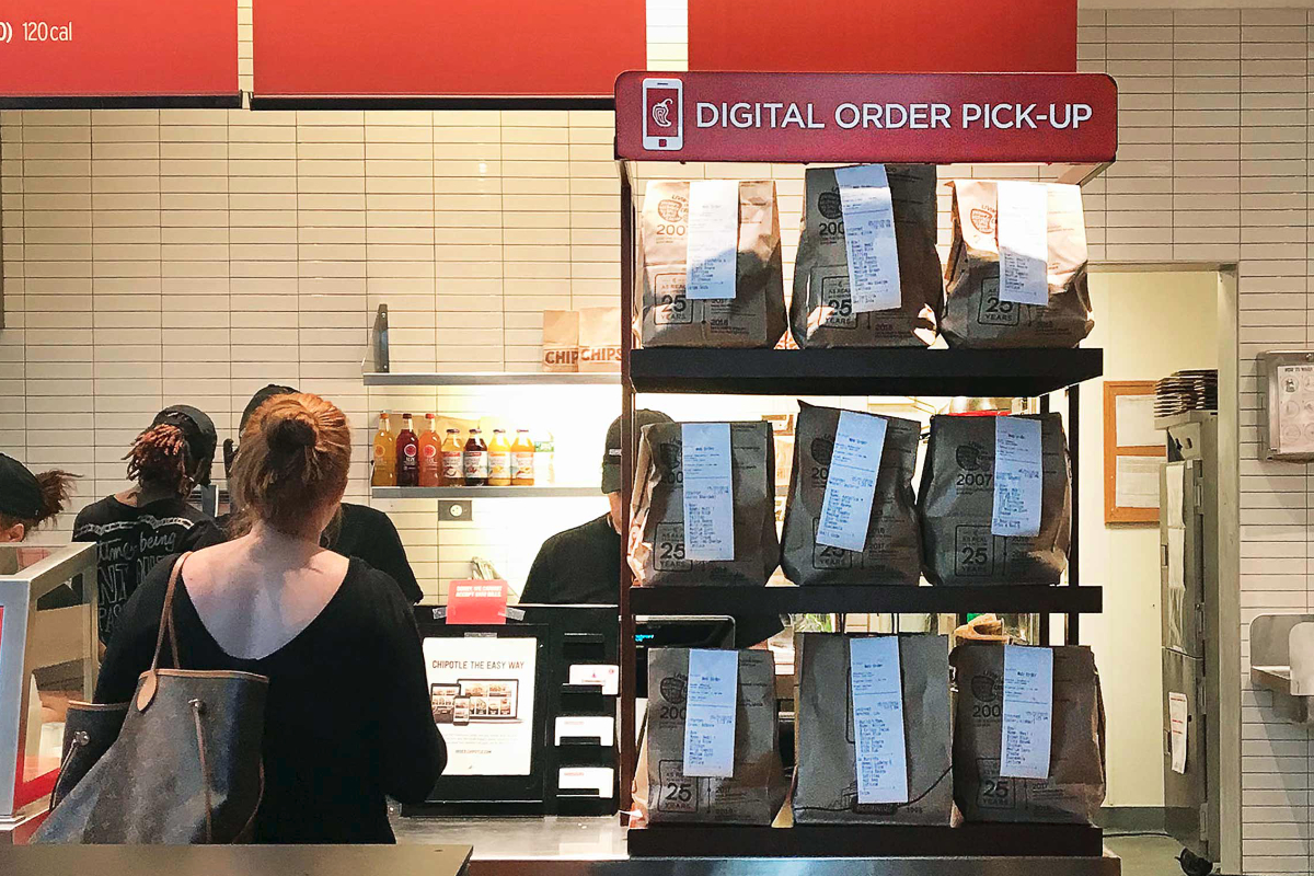 Chipotle digital order pick-up