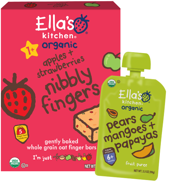 Ella's Kitchen baby food products, Hain Celestial