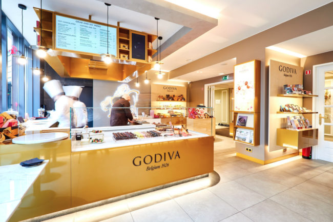Godiva Chocolatier kitchen