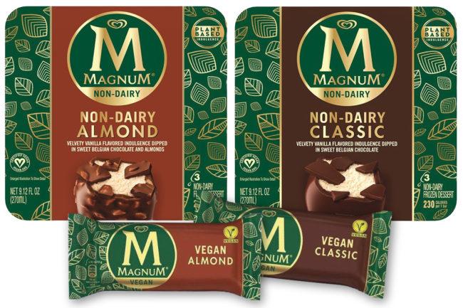 Magnum non-dairy frozen dessert bars, Unilever