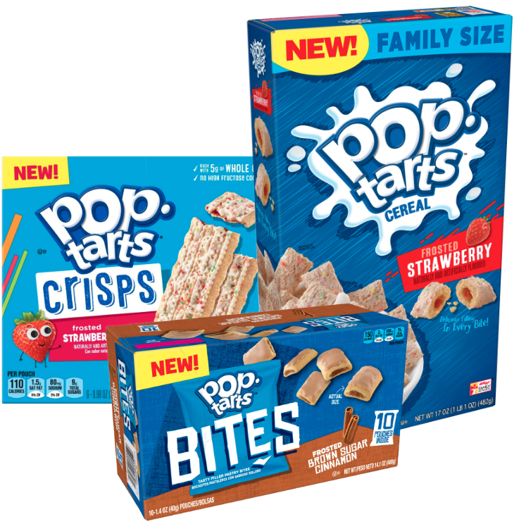 New Pop-Tarts formats, Kellogg