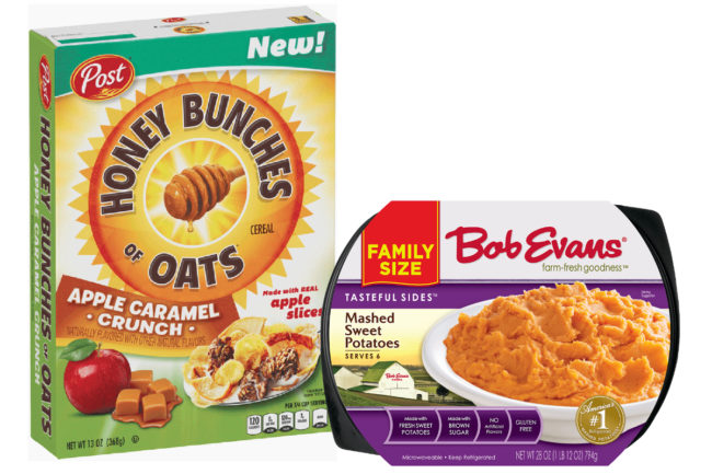 Post cereal and Bob Evans products