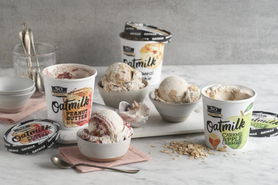 So Delicious Dairy Free Oatmilk Frozen Desserts, Danone