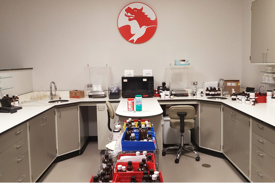 Symrise food and dairy applications lab in Teterboro, NJ