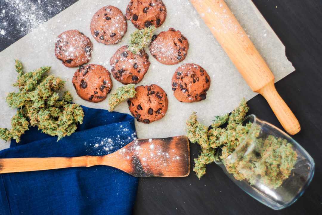 Baking cookies with cannabis