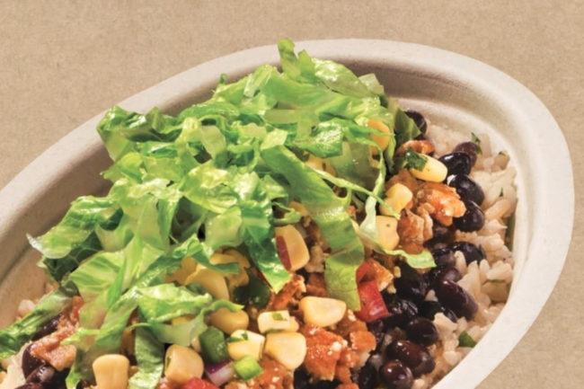 Chipotle vegan Plant-Powered Lifestyle Bowl