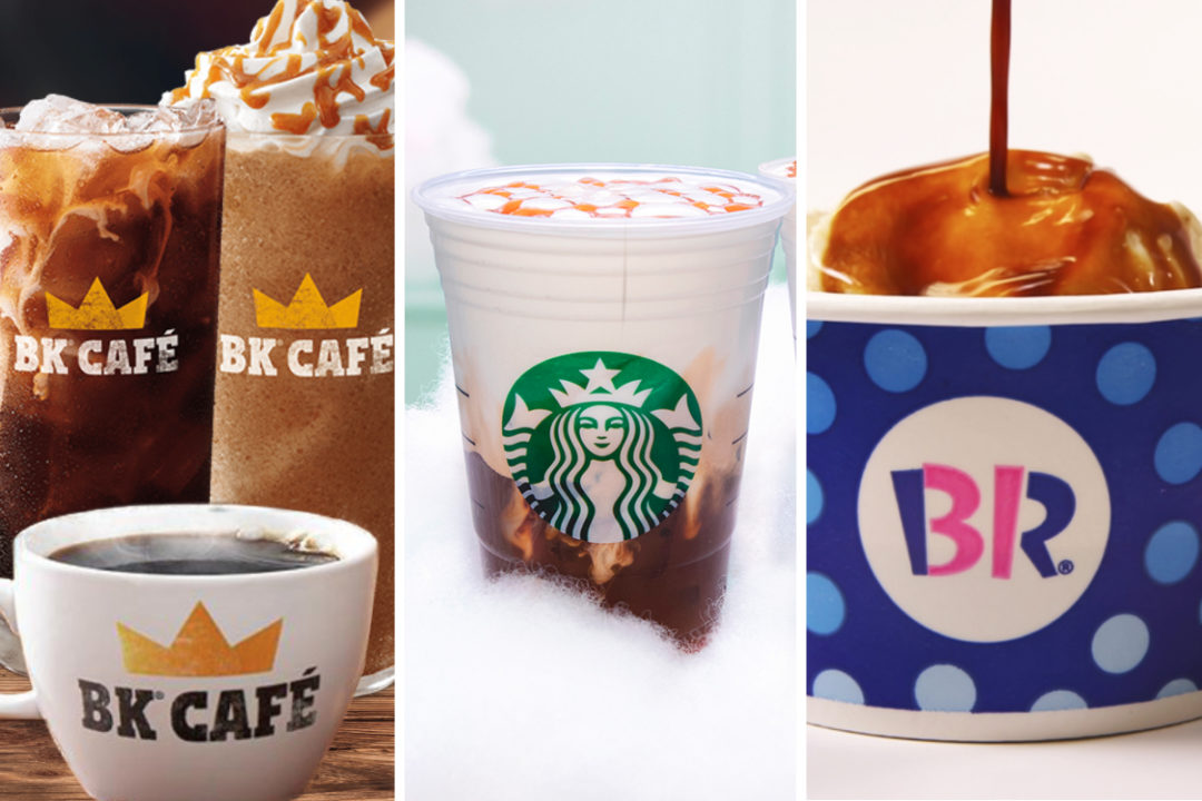 Coffee menu items