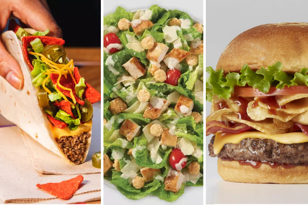 Crunchy menu items from Taco Bell, Wendy's, Johnny Rockets