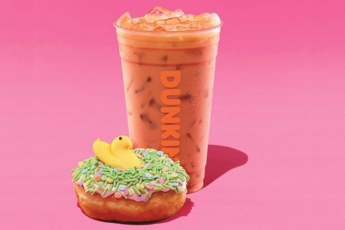 Dunkin Peeps coffee and donut