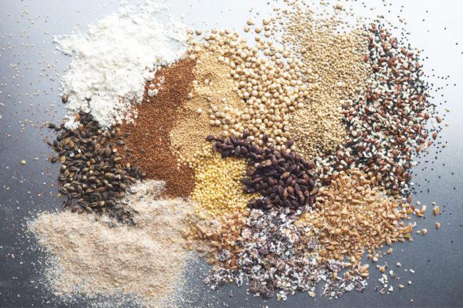 Pile of grains