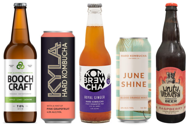 Hard kombucha varieties
