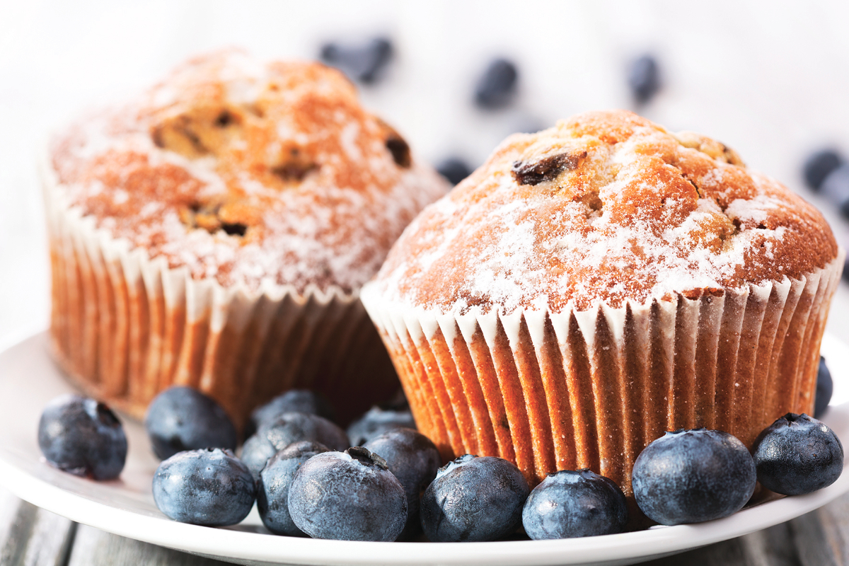 MGP Ingredients blueberry muffins with fiber