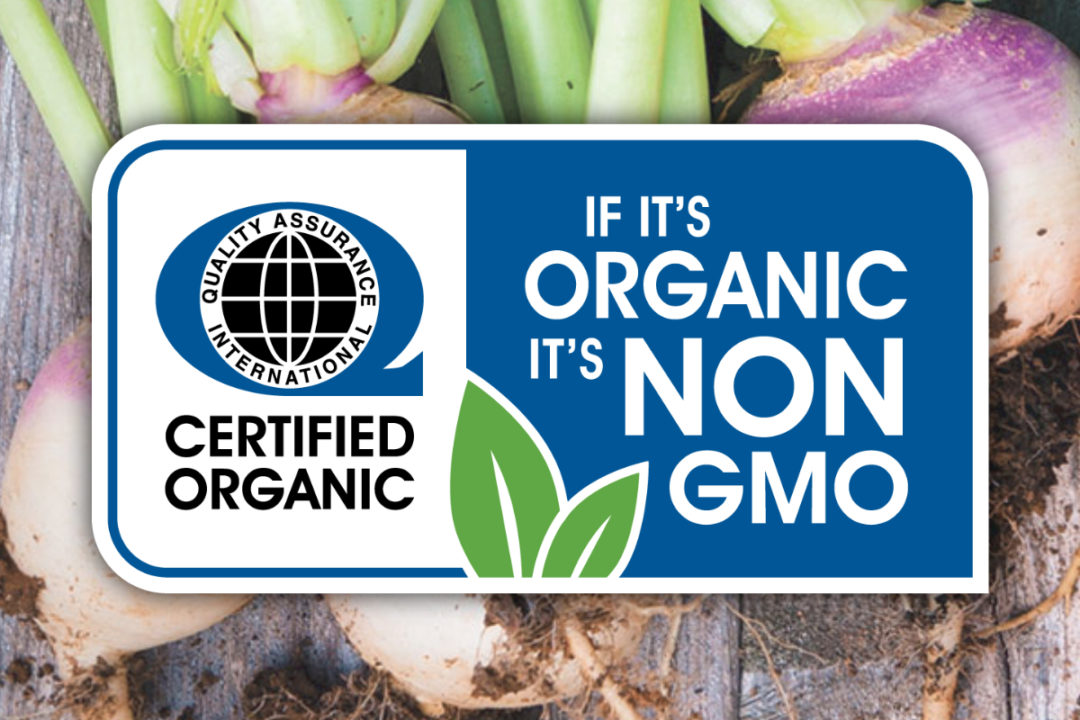 Quality Assurance International organic and non-G.M.O. label