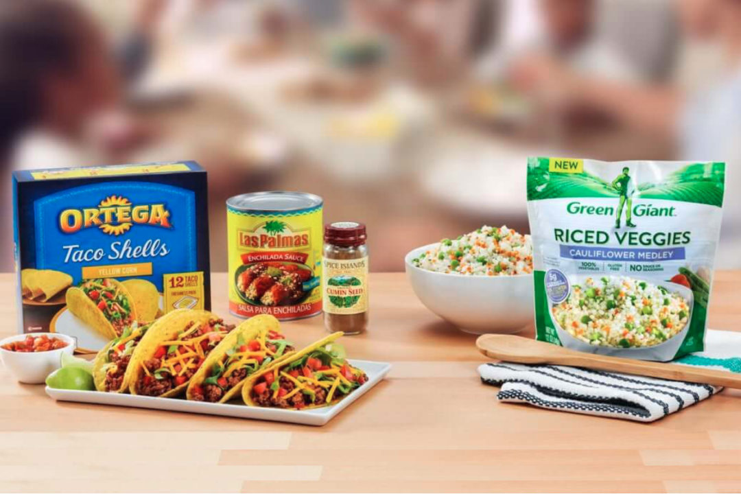 B&G Foods brands - Ortega and Green Giant