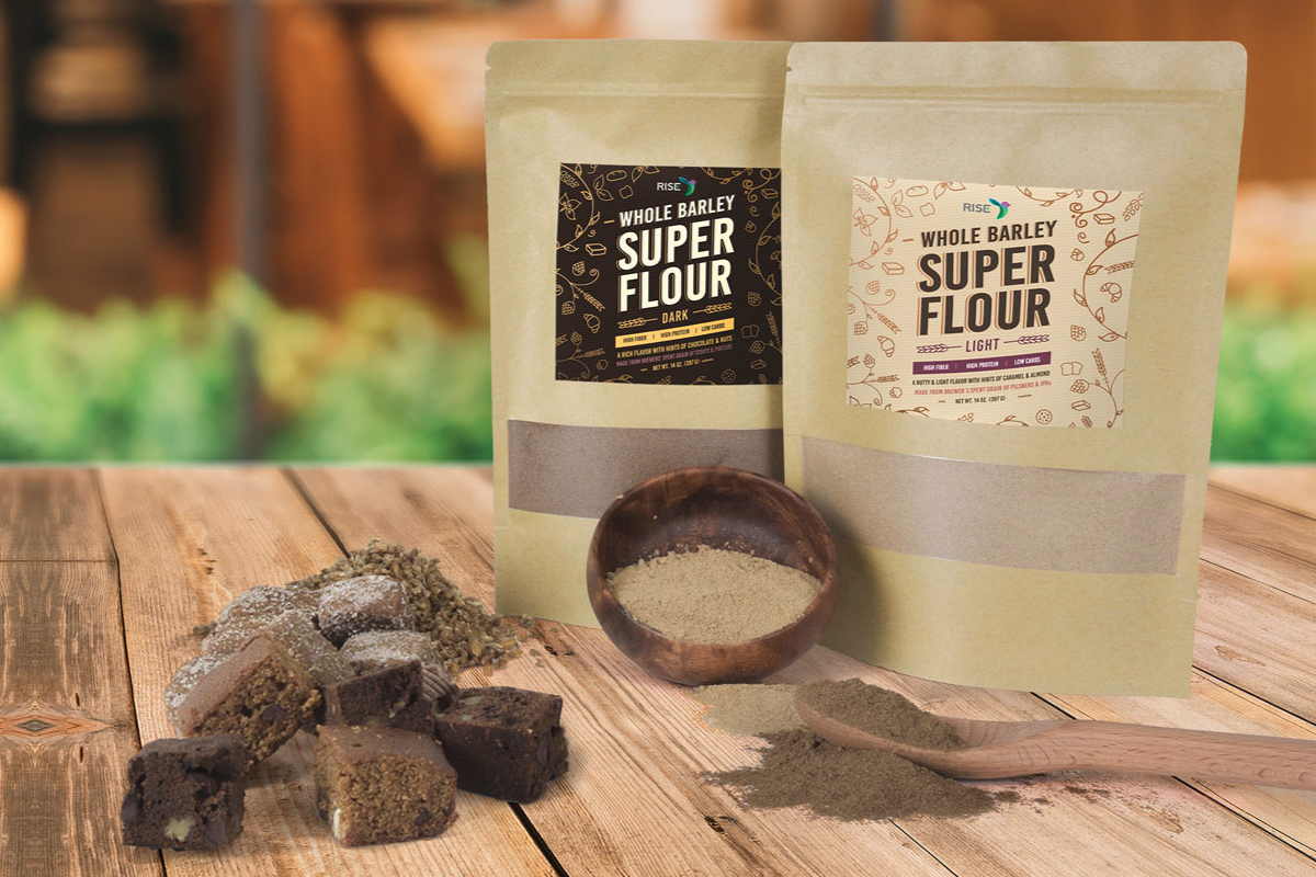 Rise Products spent grain flour