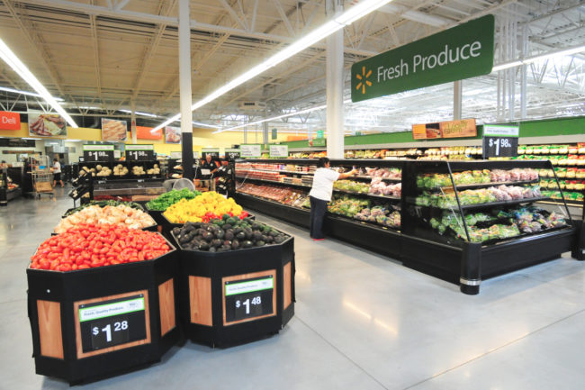 Walmart fresh produce section