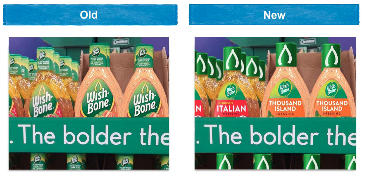 Wishbone old and new packaging, Conagra Brands