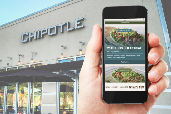Chipotle digital order Lifestyle Bowls