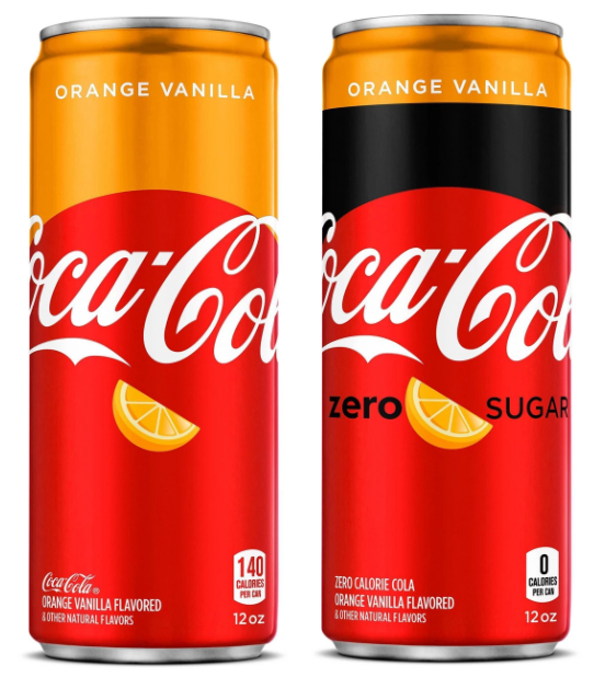 Coca-Cola Orange Vanilla sleek cans
