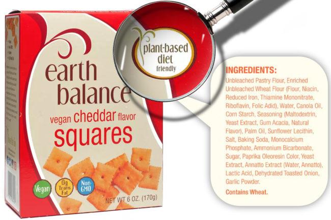 arth Balance Vegan Cheddar Flavor Squares ingredients