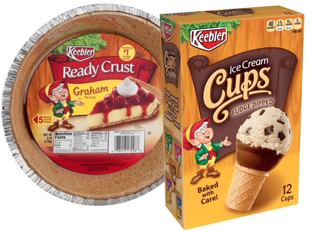 Keebler pie crust and ice cream cones