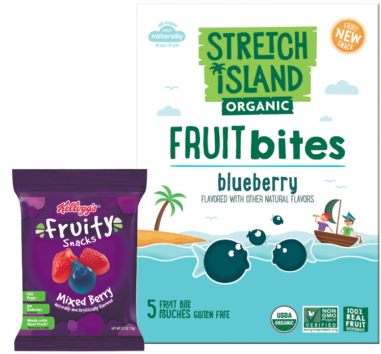 Kellogg fruit snacks brands, Stretch Island