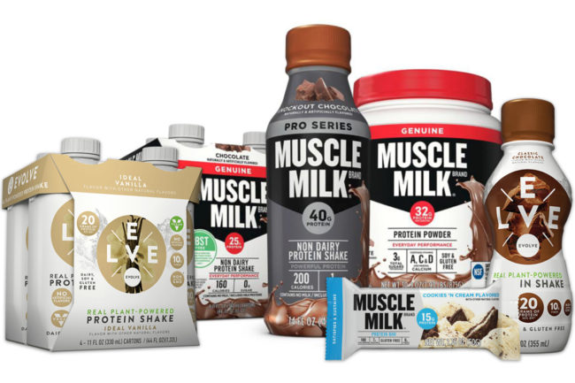 CytoSport Muscle Milk and Evolve products